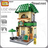LOZ/俐智小颗粒积木迷你街景益智拼插儿童玩具拼装模型男女孩成人1604-1608