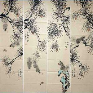 山东菏泽人,职业画家擅长花鸟画尤以梅兰竹菊及虫草动物小品最为擅长许墨(松鼠)