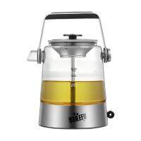 自动玻璃煮茶壶蒸茶壶养生壶电热蒸汽蒸茶器白茶黑茶煮茶器 灰色