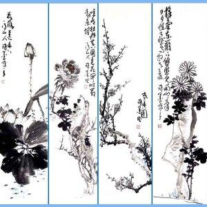 山东菏泽人,职业画家擅长花鸟画尤以梅兰竹菊及虫草动物小品最为擅长许墨(梅兰竹菊)