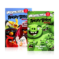 进口英文 愤怒的小鸟 2册 The Angry Birds I Can Read level 2系列