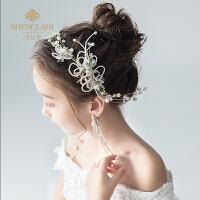 儿童发饰套装头花珍珠发带头饰韩式公主淑女百搭花童婚纱饰品