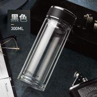 玻璃杯男茶水分离双层过滤茶杯便携商务水杯家用隔热泡茶杯子