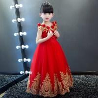花童儿童婚纱女孩女童晚礼服公主裙蓬蓬纱钢琴小主持人演出服走秀