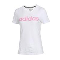 Adidas阿迪达斯 女装 运动休闲圆领透气短袖T恤 DW7943