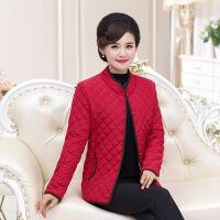 中老年女装秋冬季时尚轻薄小棉衣妈妈装立领宽松大码纯色外套 XL 建议85-110斤