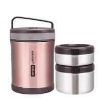 日本保温饭盒女两层超长保温桶24小时便携手提焖烧壶杯 2610