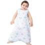 欧孕婴儿背心睡袋宝宝纱布薄款防踢被儿童春夏季前四后二小孩幼儿