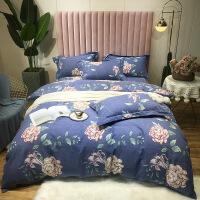 冬季�棉磨毛床上用品四件套1.8m全棉床笠加厚保暖秋冬床�伪惶�