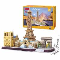 3D立体拼图纸模型建筑拼装摩天轮儿童益智玩具手工diy成年人