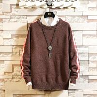 冬季新款日系毛衣男士大码韩版宽松针织衫潮流圆领套头毛线衣