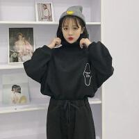 毛衣套装女秋冬季女装韩版学生卫衣裤子时尚休闲运动服两件套 S 建议S码70-90斤