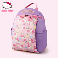 Hello Kitty凯蒂猫 KT1072粉紫 幼儿园书包女3-5岁幼儿书包护脊减负双肩小书包 当当自营