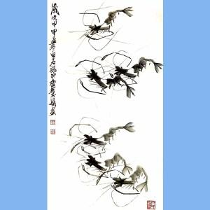齐白石最小的孙女,也是后辈中画艺最好的艺术家齐慧娟(虾)2