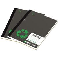 凯萨(KAISA) A5软抄本 黑色封面(80页/2本装)70G纸横线本 美式笔记本 学生本 办公记事本 日记本 精美