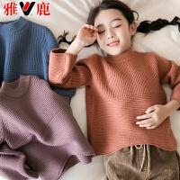儿童毛衣秋冬新款套头针织衫宝宝加厚打底毛衫女孩