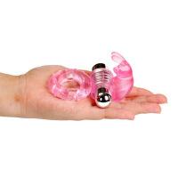 10频男用延时锁精环电子震动环阳具环套夫妻共震情趣兔子环情趣玩具性用品 粉色10频OPP