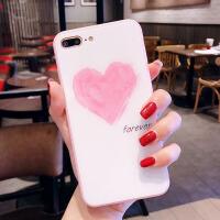 �W�t同款�O果X手�C��7plus玻璃iPhone6s��s粉色�坌�8plus少女心6 6/6s 【大�坌摹�