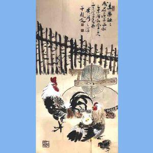 河南美术家协会会员,新乡市美协会员,河南国画轩画廊特约画家武三丁(其乐融融)
