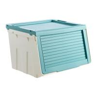 特大号衣服收纳箱塑料整理箱 斜翻盖衣物收纳盒有盖储物箱 特大号