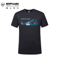 【同款】NORTHLAND/诺诗兰新款户外男士快干舒适运动短袖T恤GQ085195