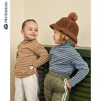 迷你巴拉巴拉儿童上衣2019冬装新品男女童高领打底衫宝宝针织T恤