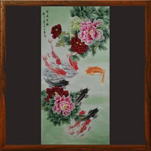 九鱼图《富贵有余》于玉江ML5342 泰山画院常务院长 一级美术师 学院派