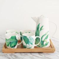 �W式骨瓷咖啡杯套�b�W式��s下午花茶茶具��意家用陶瓷水杯具