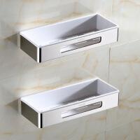 卫生间置物架壁挂浴室三角架不锈钢双层收纳厕所洗手间墙上转角架