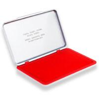 得力印泥印台红色印泥盒快干财务速干印章印尼大号按手印油9864方形办公用品小号便携9863硬泥盖章60蓝色黑色