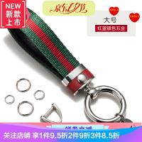 汽车钥匙扣男女情侣真皮挂件高档可爱个性创意潮钥匙链刻字BV