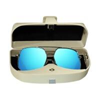车载眼镜盒收纳盒汽车眼镜夹遮阳板多功能卡片名片夹太阳镜墨镜夹