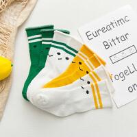 婴儿袜子春秋男女宝宝0-3-6-12个月新生松口冬季儿童中筒袜厚