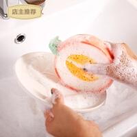 水果海绵擦厨房加厚百洁布去污刷锅洗碗清洁海绵魔力擦SN5048 颜色随机