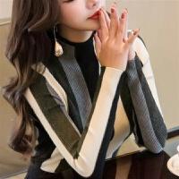 秋冬装加厚半高领长袖毛衣女装针织衫套头 均码