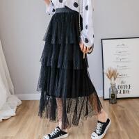 网纱裙蛋糕半身裙新款春适合胯大腿粗的裙子蛋糕裙搭配上衣