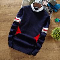 假两件毛衣男学生2018秋季新款韩版衬衫领男士针织衫带领线衣外套