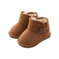 儿童靴子fang滑雪地靴软底冬鞋加绒棉靴短靴男孩女孩