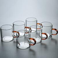 玻璃茶杯直把功夫茶具套装家用品茗杯水杯