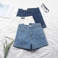 夏季新款显瘦修身弹力高腰牛仔短裤学生包臀韩国热裤女裤子牛仔裤