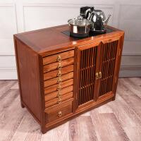 花梨木大�茶柜架�F代��s��木中式家用�t木茶水柜普洱茶盒存茶柜
