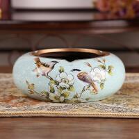 创意欧式复古精品烟灰缸奢华客厅个性复古简约陶瓷时尚家居装饰品摆件 常规