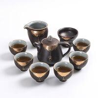 功夫茶具茶杯套装家用陶瓷景德镇茶壶汝窑茶具简约现代办公室礼品