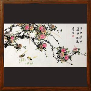 《笑口常开 喜事连连》王富财 江西美协会员 中国书画家协会理事R3391