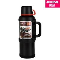 保温壶户外304不锈钢超大容量运动水壶家用车载冷热水瓶定制 锤纹漆 黑色