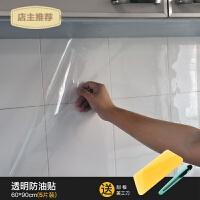 厨房防油贴纸透明耐高温柜灶台用防水防油自粘油烟机用冰箱瓷砖贴SN5881