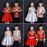 儿童唐装套装中国风演出服汉服中式礼服旗袍公主连衣裙秋