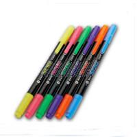 宝克文具 MP-492双头荧光笔笔式荧光笔 6色装