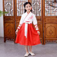 儿童汉服女童古装男童汉服国学服书童弟子规表演服装三字经演出服