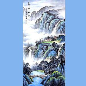 中国美术家协会会员,龙云书画院院长候桂峰(富水长流)4